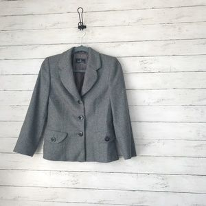 Les Copains Grey Blazer - Made In Italy - Small